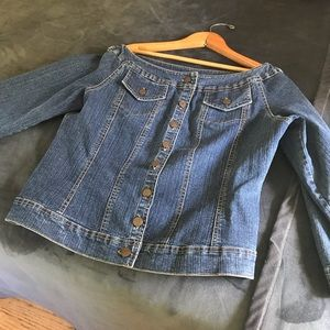 Soft Surroundings Denim Jean Jacket in Medium